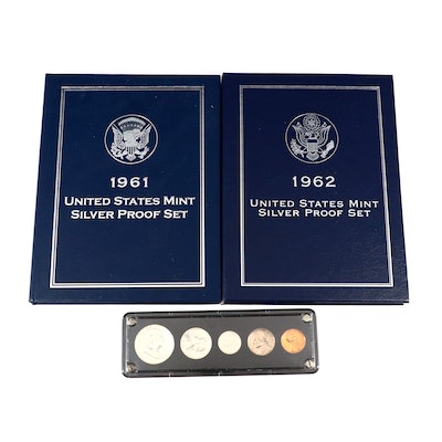 Three U.S. Type Coin Proof Sets, 1959 to 1962