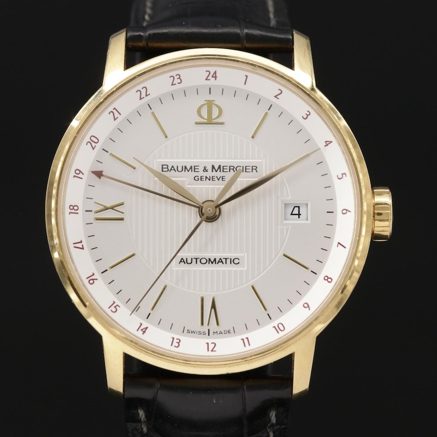 Baume & Mercier Classima GMT 18K Gold Automatic Wristwatch