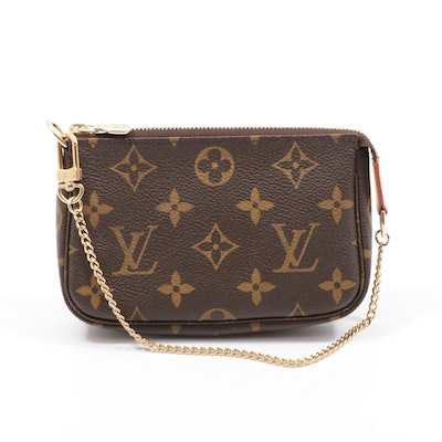 Louis Vuitton Mini Pochette Clutch in Monogram Canvas