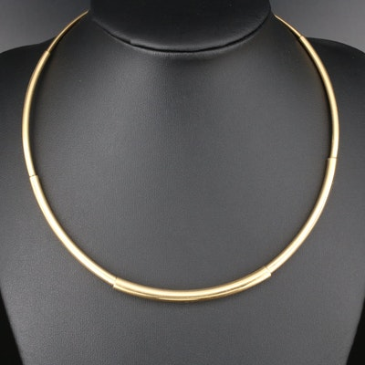 18K Yellow Gold Collar Necklace