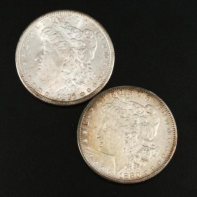 1880-O and 1881-S Morgan Silver Dollars