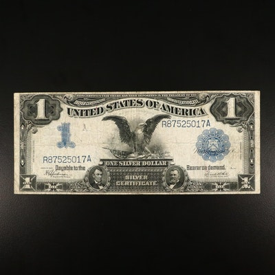 """Large Format Series of 1899 $1 U.S. Silver Certificate, """"Black Eagle Note"""""""