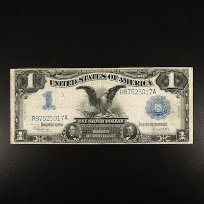 "Large Format Series of 1899 $1 U.S. Silver Certificate, ""Black Eagle Note"""