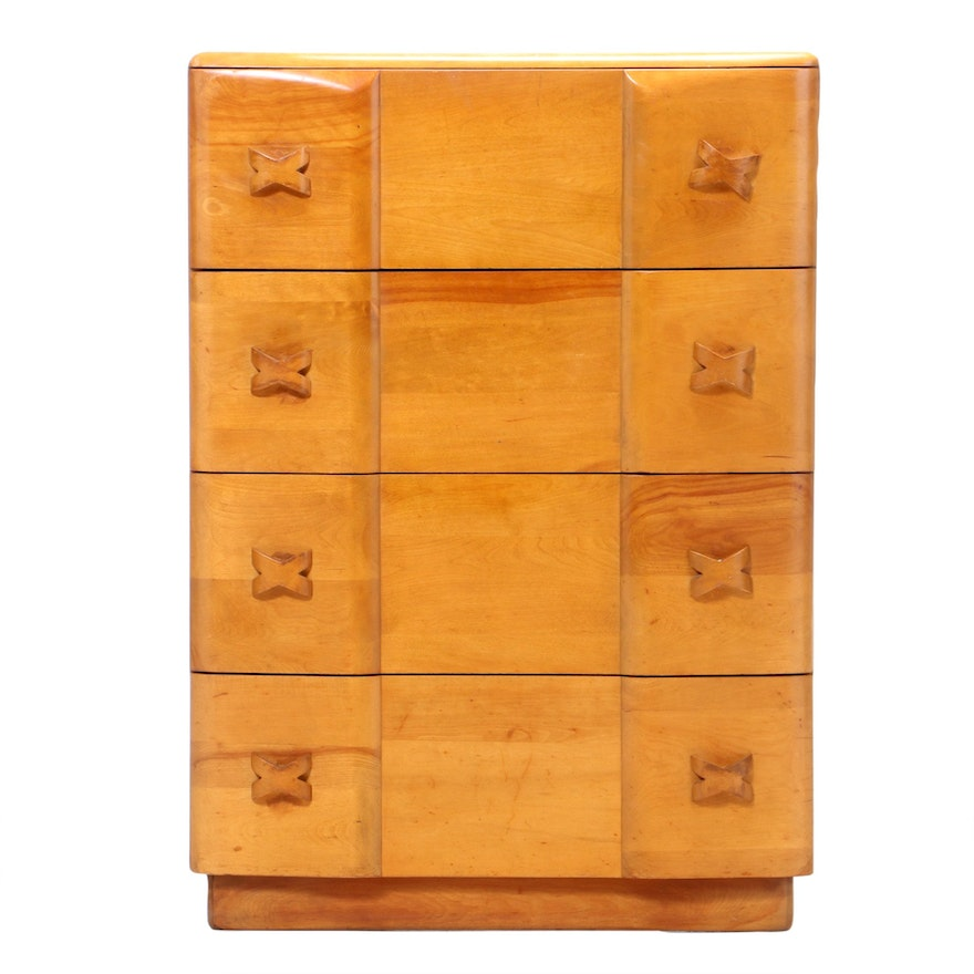 "Heywood-Wakefield ""Rio"" Champagne-Finished Birch Chest of Drawers, circa 1940"