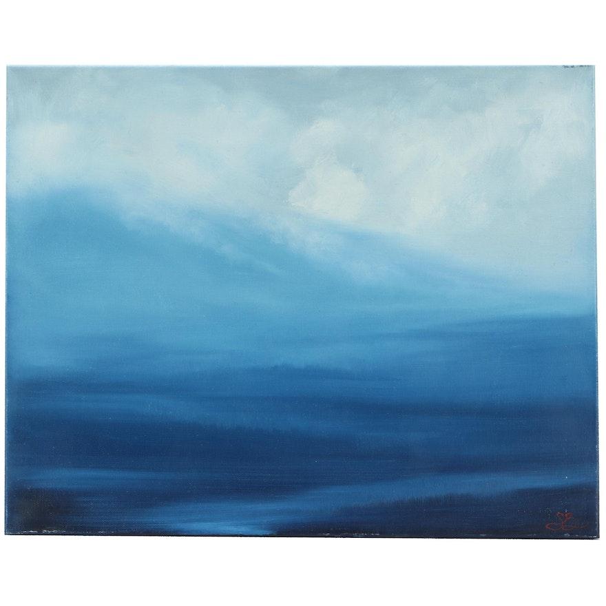 "Sarah Brown Oil Paiinting ""Descending Mist"""