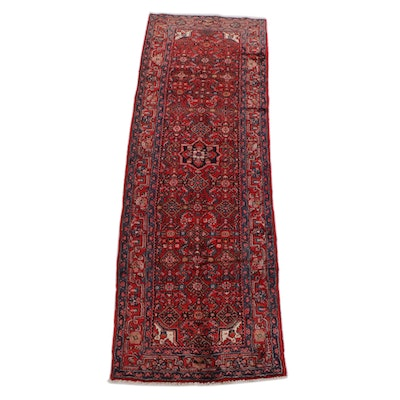 3'7 x 10'9 Hand-Knotted Persian Gogarjin Wool Long Rug