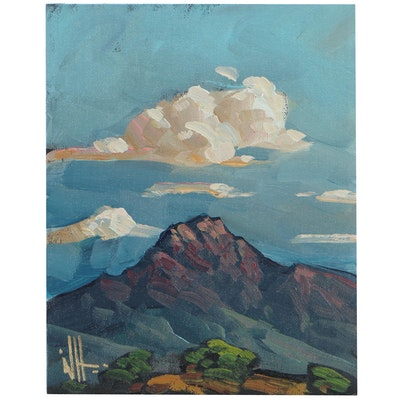 William Hawkins Mountain Landscape Oil Painting