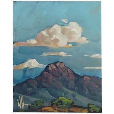 William Hawkins Mountain Landscape Oil Painting