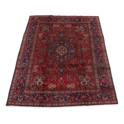 8'3 x 11'8 Hand-Knotted Persian Ahar Wool Rug