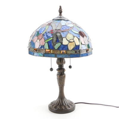 Dale Tiffany Stained Glass Dragonfly Table Lamp