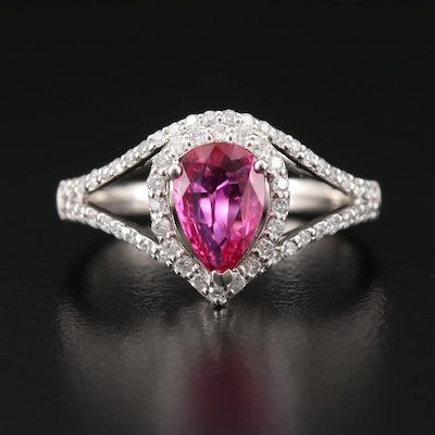 Platinum Ruby and Diamond Ring with GIA Report