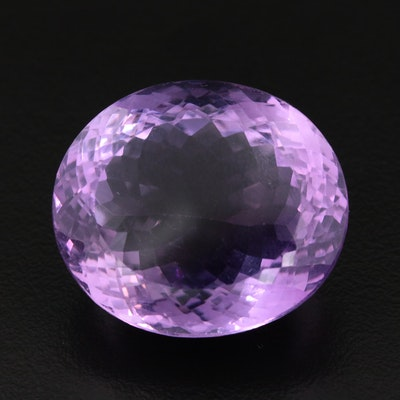 Loose 58.50 CT Oval Faceted Amethyst Gemstone