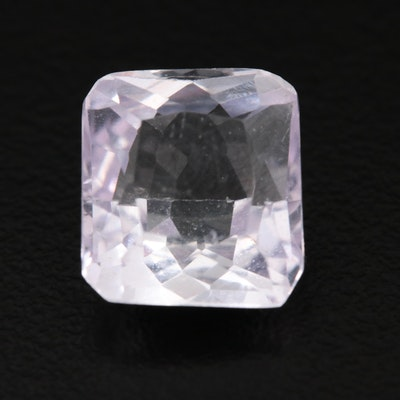 Loose 5.35 CT Modified Cushion Faceted Kunzite Gemstone