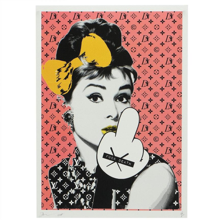 Death NYC Pop Art Print of Audrey Hepburn