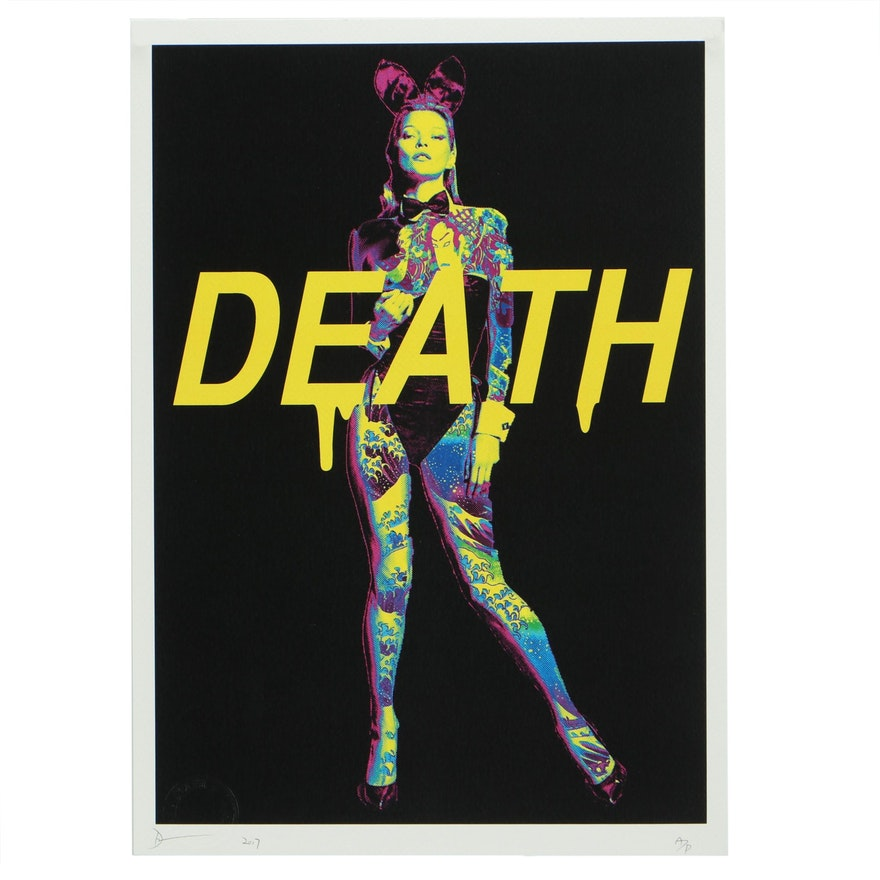 "Death NYC Offset Lithograph ""Kate Tattoo DEATH"""