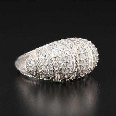 Judith Ripka Sterling Silver Cubic Zirconia Ring