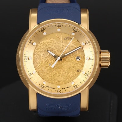 Invicta S1 Rally Gold Tone Automatic Wristwatch