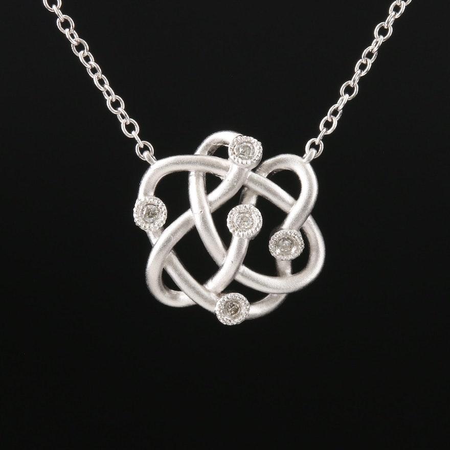 Gabriel & Co. Sterling Silver Diamond Pendant Necklace