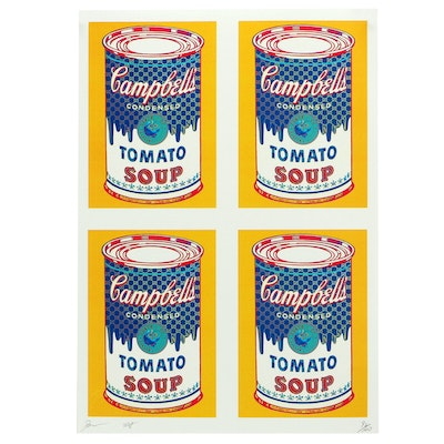 "Death NYC Offset Lithograph ""4 Can Soup"""