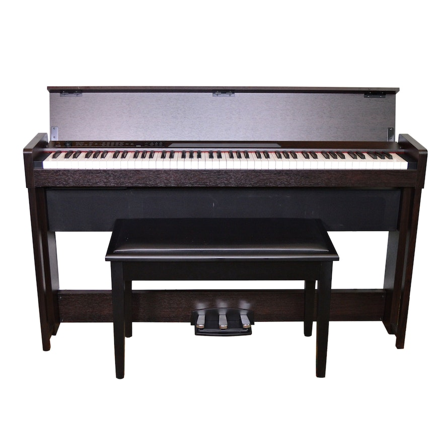 Korg C1 Air Digital Piano with Bluetooth and On Stage Bench