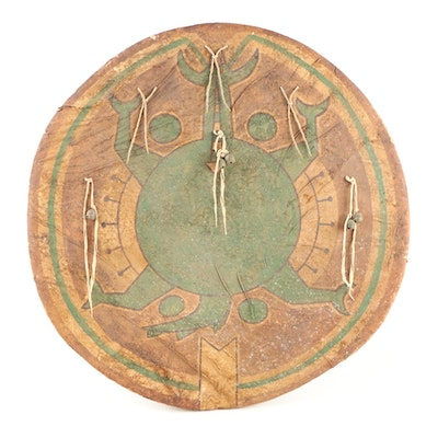 Reproduction Sioux Animal Hide Turtle War Shield