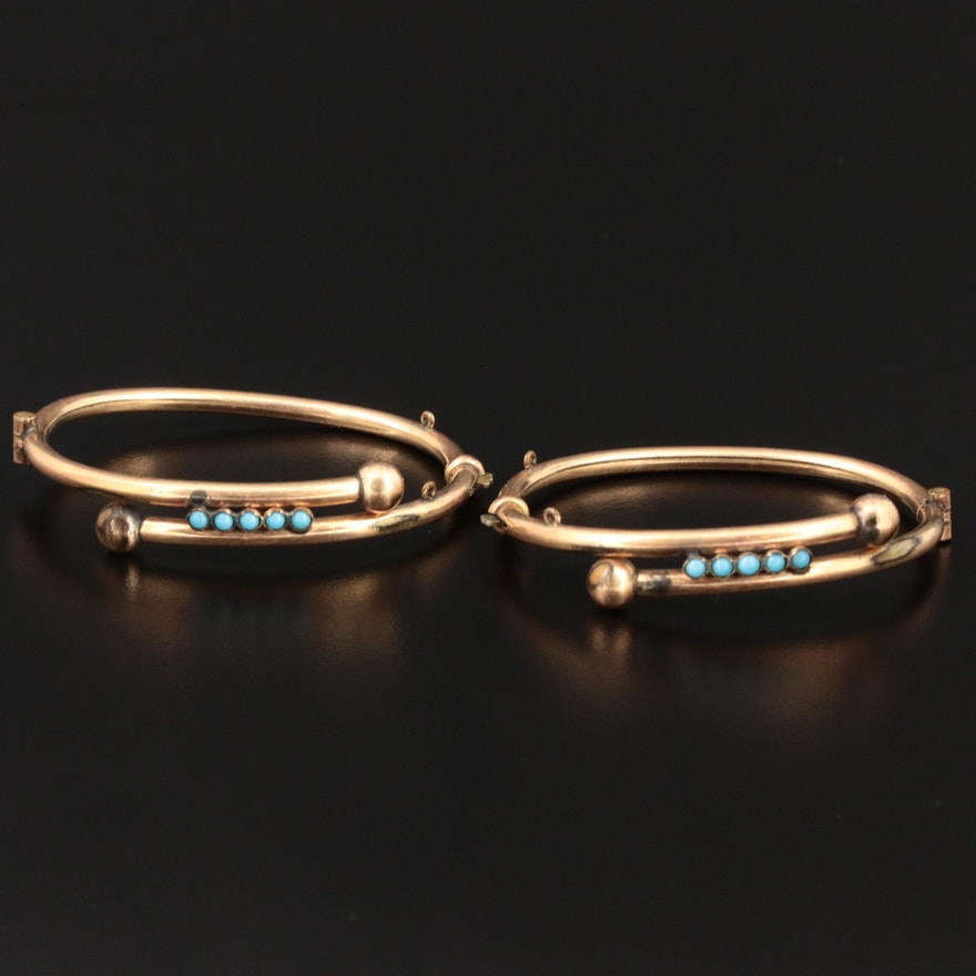 Victorian Hinged Wedding Bracelets