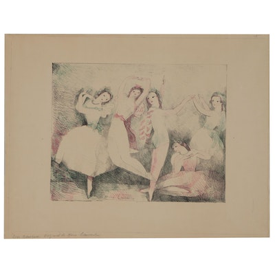 "Lithograph after Marie Laurencin ""Les Danseuses"""
