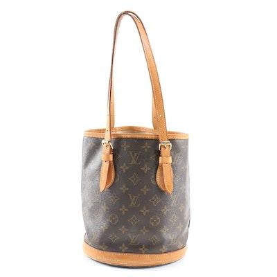 Louis Vuitton Petit Bucket Bag in Monogram Canvas