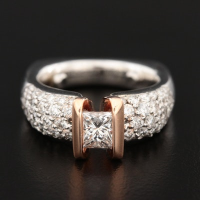 Gelin Abaci 14K White and Rose Gold 1.87 CTW Diamond Ring