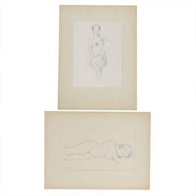 Benjamin Miller Nude Figural Drawings