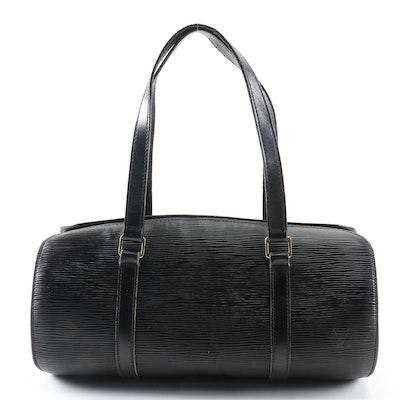 Louis Vuitton Papillon Bag in Black Epi Leather