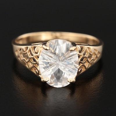 10K Yellow Gold Topaz Ring