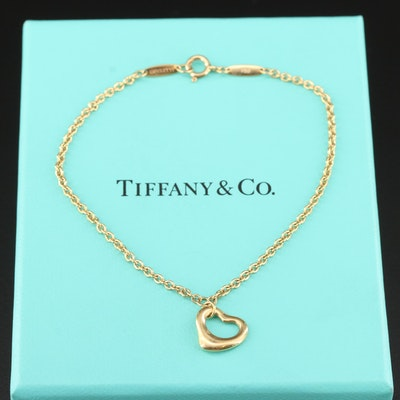 "Elsa Peretti for Tiffany & Co. ""Open Heart"" 18K Gold Bracelet"