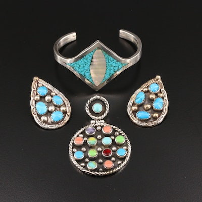 Southwestern Turquoise, Howlite and Mother of Pearl Jewelry