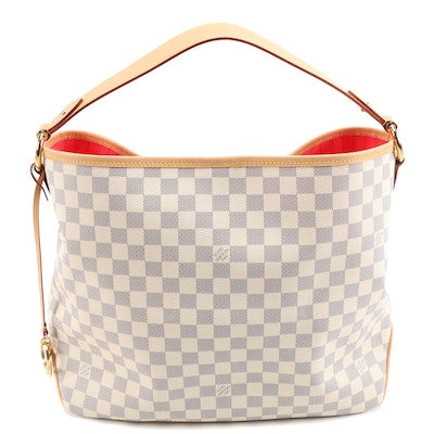 Louis Vuitton Azur Damier Canvas Delightful MM