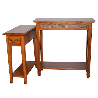 Leick Home Oak Accent Table and Other Wood Side Table