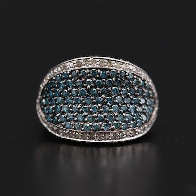 14K White Gold Pavé 2.33 CTW Diamond Ring