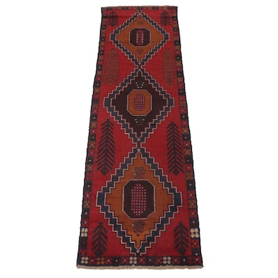 2'9 x 9'10 Hand-Knotted Afghani Baluch Runner