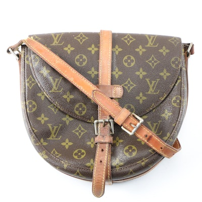 Louis Vuitton Chantilly Shoulder Bag in Monogram Canvas and Leather