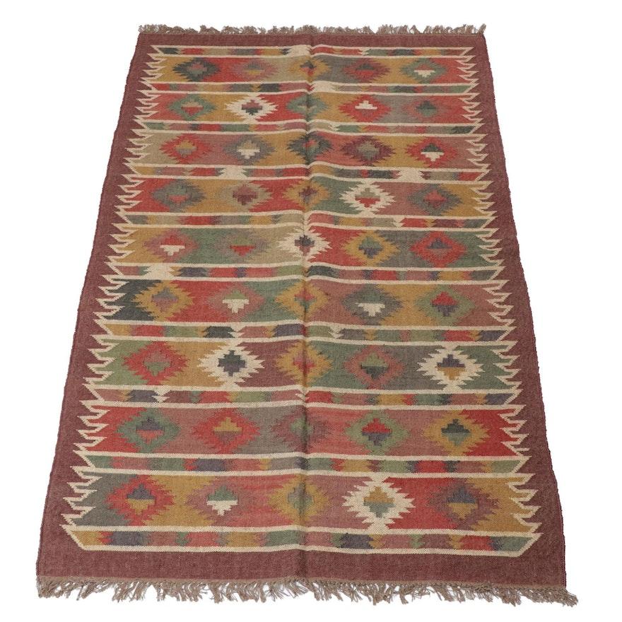 5'1 x 8'7 Handwoven Turkish Kilim Rug