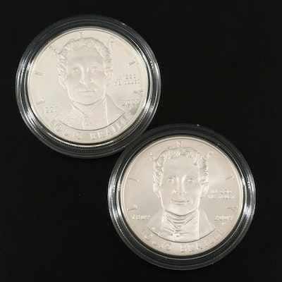 Two 2009-P Louis Braille U.S. Commemorative Silver Dollars