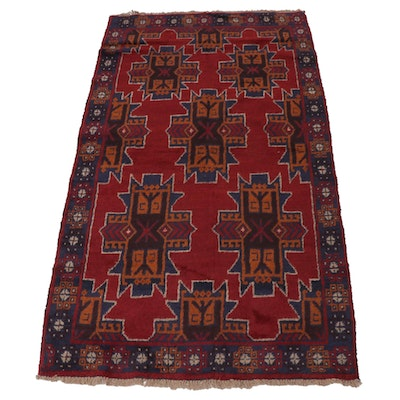 3'8 x 6'7 Hand-Knotted Afghani Baluch Rug