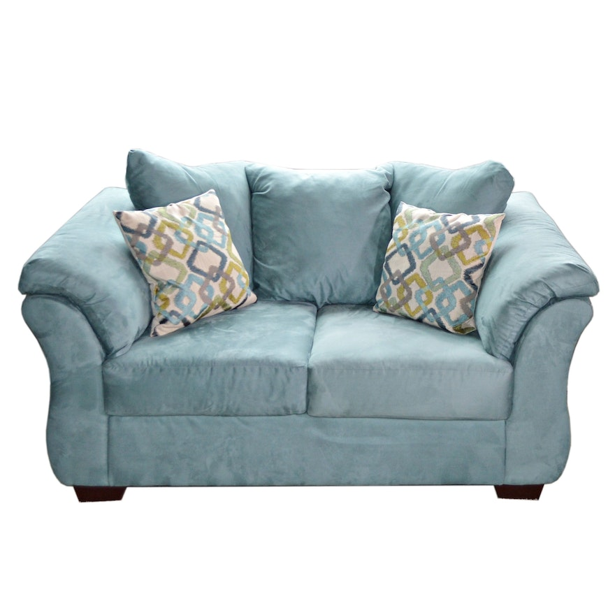 "Ashley Furniture ""Darcy"" Faux Suede Loveseat"