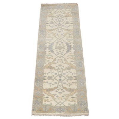 2'7 x 7'11 Hand-Knotted Indo-Turkish Oushak Runner