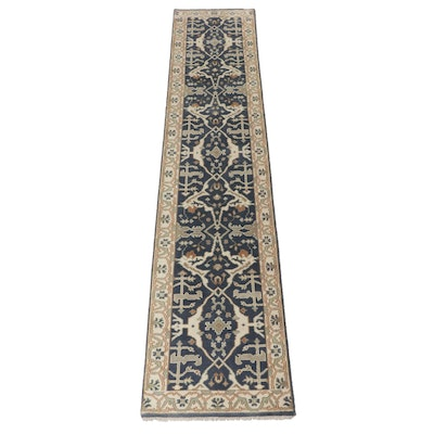 2'6 x 11'10 Hand-Knotted Indo-Turkish Oushak Runner