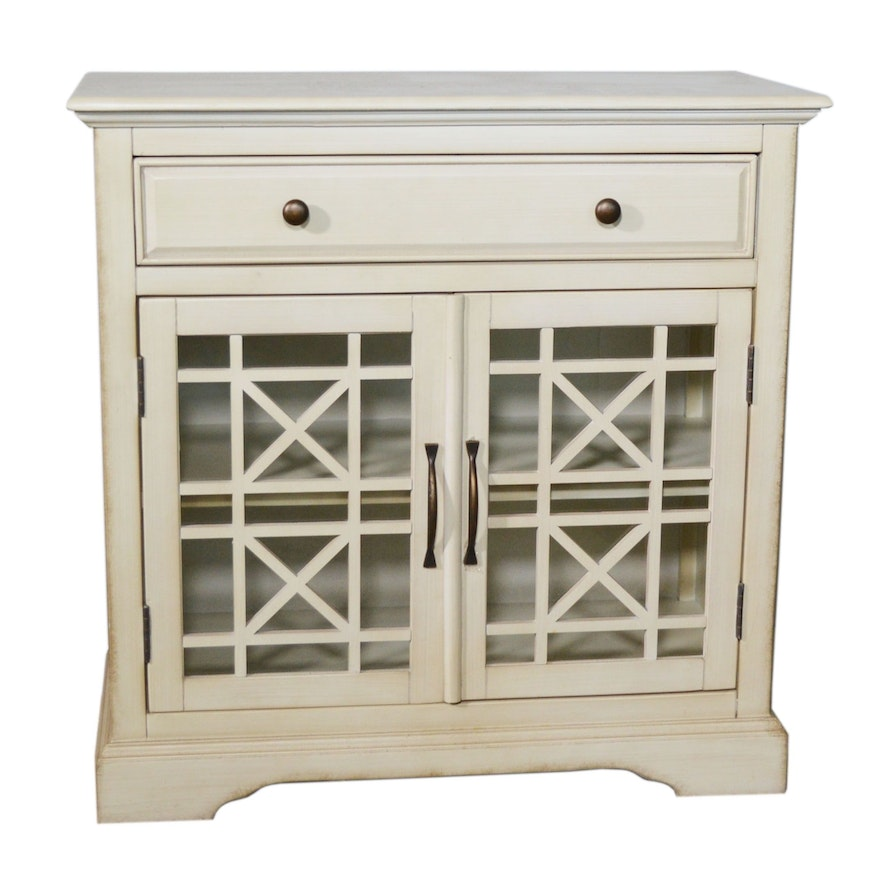 Jofran Cream Painted Console Cabinet