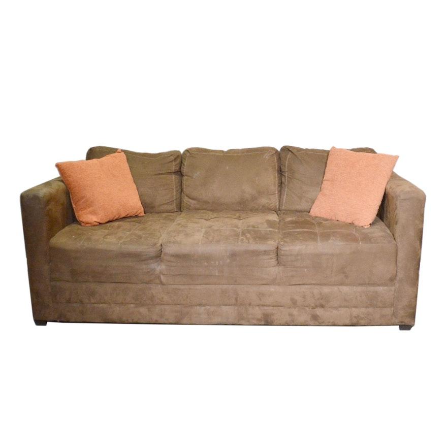 Hughes Furniture Ind. Brown Block Upholstered Sofa
