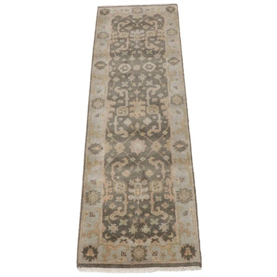 2'6 x 8'7 Hand-Knotted Indo-Turkish Oushak Runner