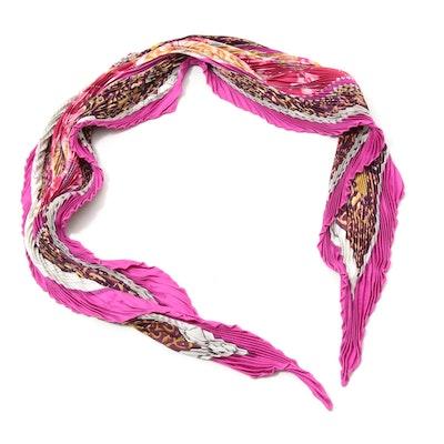 Hermès Paris Plissé Pleated Silk Scarf