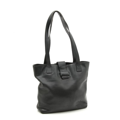 Chanel Black Leather Tote